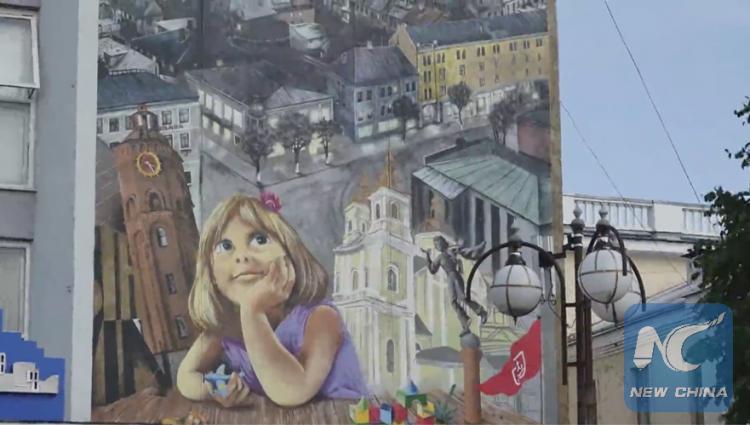حضور چشمگیر یک هنرمند چینی در اکراین