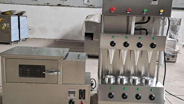 دستگاه تولید نان و پیتزا های قیفی